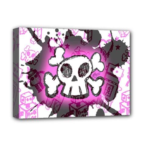 Cartoon Skull  Deluxe Canvas 16  X 12  (framed)