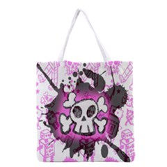 Cartoon Skull  Grocery Tote Bag