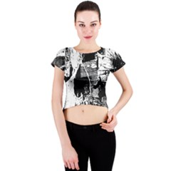 Grunge Skull Crew Neck Crop Top