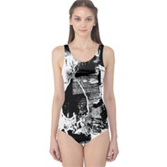 Grunge Skull One Piece Swimsuit