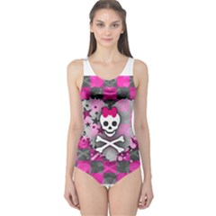 Princess Skull Heart One Piece Swimsuit