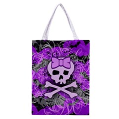 Purple Girly Skull Classic Tote Bag