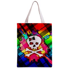 Rainbow Plaid Skull Classic Tote Bag