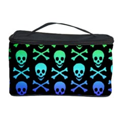Rainbow Skull and Crossbones Pattern Cosmetic Storage Case
