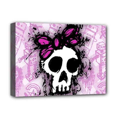 Sketched Skull Princess Deluxe Canvas 16  X 12  (framed)