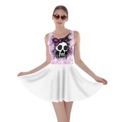 Sketched Skull Princess Skater Dress
