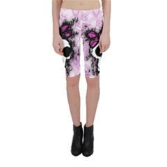 Sketched Skull Princess Cropped Leggings