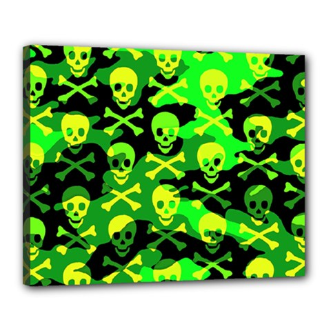Skull Camouflage Canvas 20  X 16  (framed)