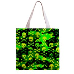 Skull Camouflage Grocery Tote Bag