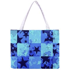 Blue Star Checkers Tiny Tote Bag