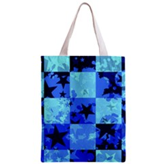 Blue Star Checkers Classic Tote Bag