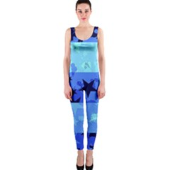 Blue Star Checkers OnePiece Catsuit
