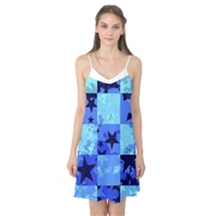Blue Star Checkers Camis Nightgown