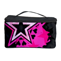 Pink Star Graphic Cosmetic Storage Case