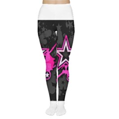 Pink Star Graphic Tights