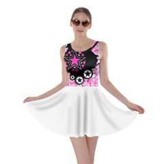 Pink Star Splatter Skater Dress