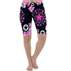 Pink Star Splatter Cropped Leggings