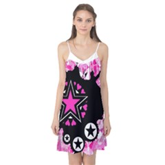 Pink Star Splatter Camis Nightgown