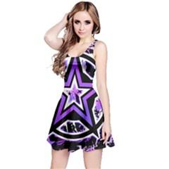 Purple Star Reversible Sleeveless Dress
