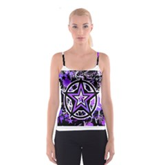 Purple Star Spaghetti Strap Top