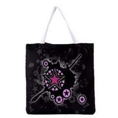 Pink Star Explosion Grocery Tote Bag