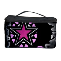 Pink Star Explosion Cosmetic Storage Case