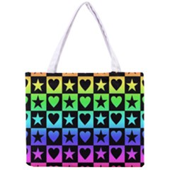 Rainbow Stars and Hearts Tiny Tote Bag