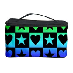 Rainbow Stars And Hearts Cosmetic Storage Case