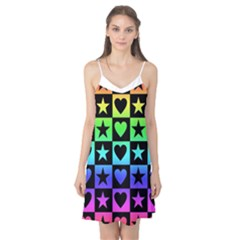 Rainbow Stars and Hearts Camis Nightgown