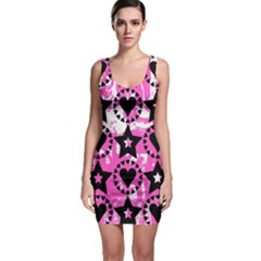 Star And Heart Pattern Bodycon Dress