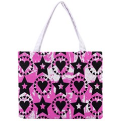 Star And Heart Pattern Tiny Tote Bag