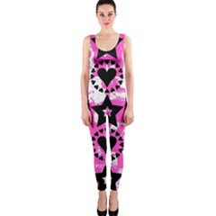 Star And Heart Pattern OnePiece Catsuit