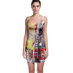 Abstract Graffiti Bodycon Dress