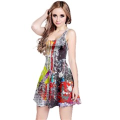 Abstract Graffiti Reversible Sleeveless Dress