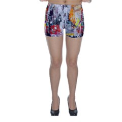 Abstract Graffiti Skinny Shorts