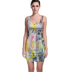 Graffiti Graphic Bodycon Dress