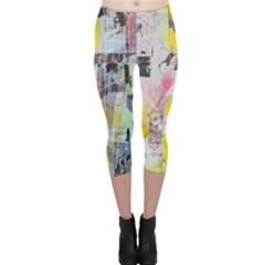 Graffiti Graphic Capri Leggings