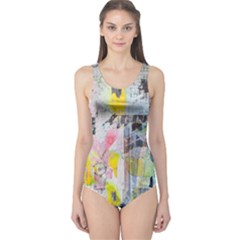 Graffiti Graphic One Piece Swimsuit