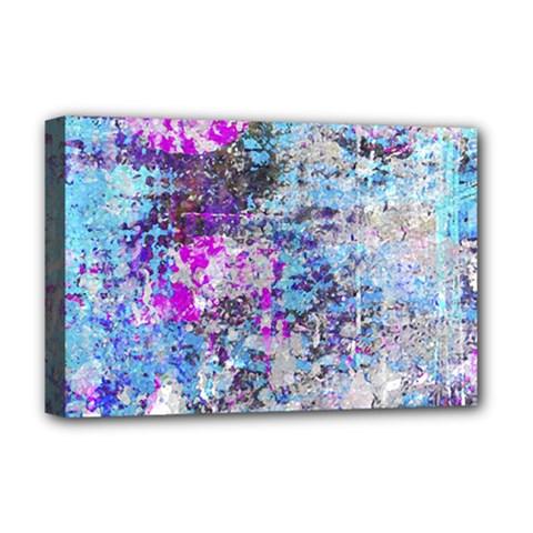 Graffiti Splatter Deluxe Canvas 18  X 12  (framed)