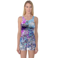Graffiti Splatter One Piece Boyleg Swimsuit