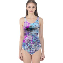 Graffiti Splatter One Piece Swimsuit