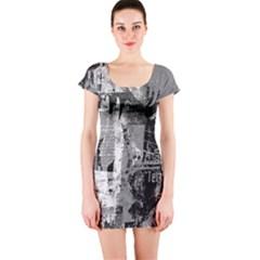 Urban Graffiti Short Sleeve Bodycon Dress