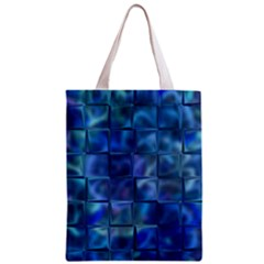 Blue Squares Tiles Classic Tote Bag