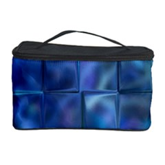 Blue Squares Tiles Cosmetic Storage Case