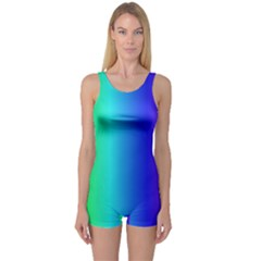 Crayon Box One Piece Boyleg Swimsuit
