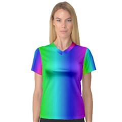 Crayon Box Women s V-Neck Sport Mesh Tee