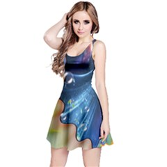 Cocktail Bubbles Reversible Sleeveless Dress