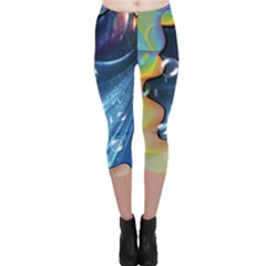 Cocktail Bubbles Capri Leggings