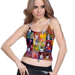 We Are Beautiful Patchwork 2 Spaghetti Strap Bra Top