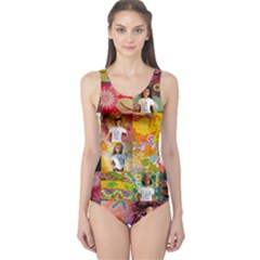 We Are Beautiful Patchwork 2 One Piece Swimsuit